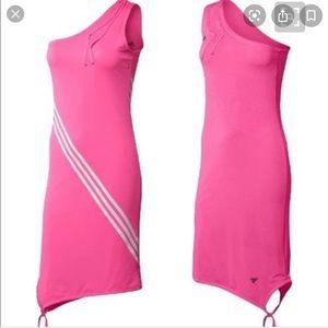 Adidas Hot Pink One Shoulder Dress